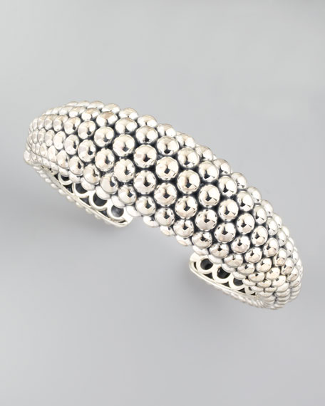 Bold Caviar Cuff, Medium
