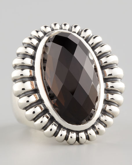 Venus Fluted Smoky Topaz Ring