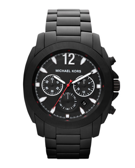 Oversize Black Stainless Steel Cameron Chronograph Watch