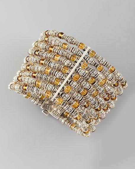 Ilios Wide Beaded Bracelet