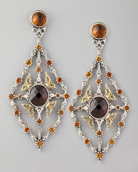 Ilios Mesh Chandelier Earrings