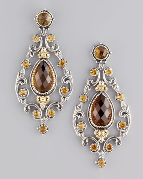 Ilios Oval Chandelier Earrings