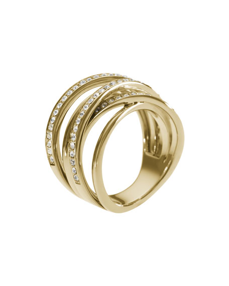 Pave Stacked Ring, Golden