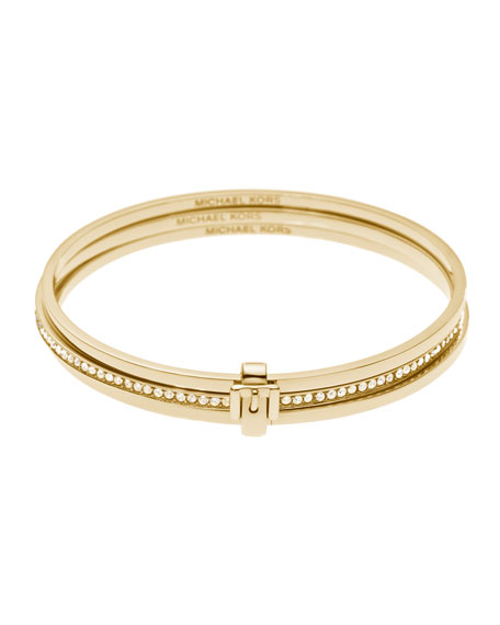 Buckled Bangle Set, Golden