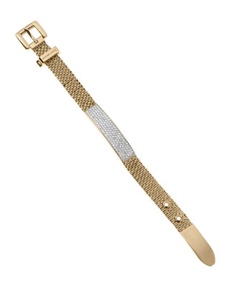 Mesh Pave Bracelet, Golden