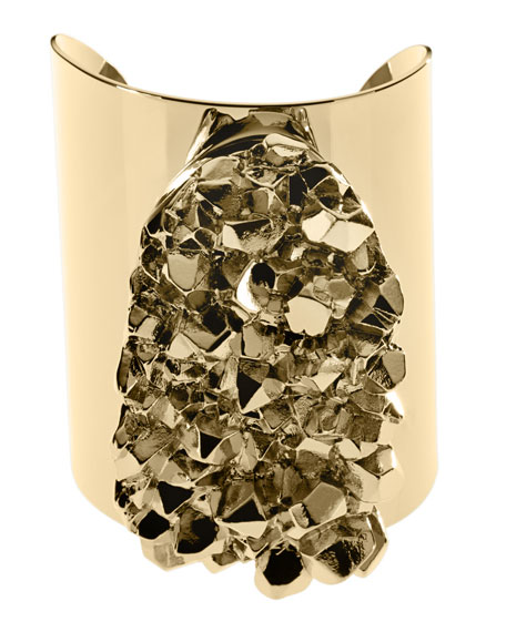 Nugget Cuff Bracelet, Golden