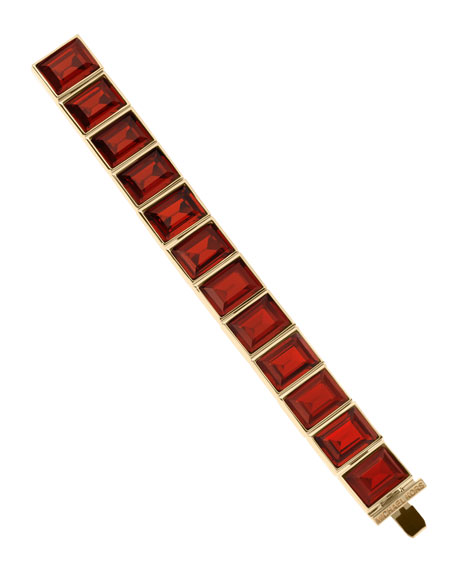 Square-Crystal Bracelet, Golden