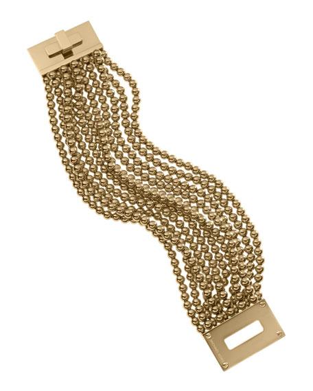 Bead Turn-Lock Bracelet, Golden
