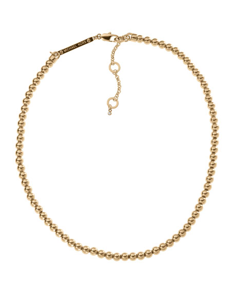 Bead Necklace, Golden