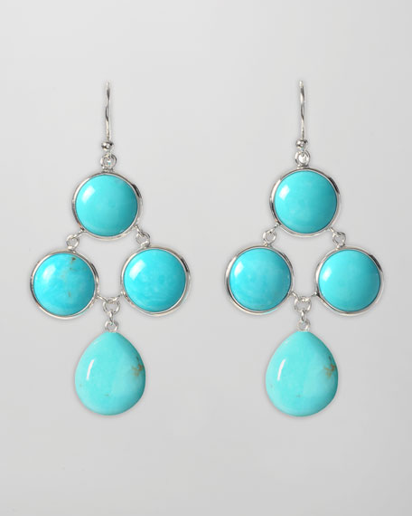 Turquoise Cascade Drop Earrings