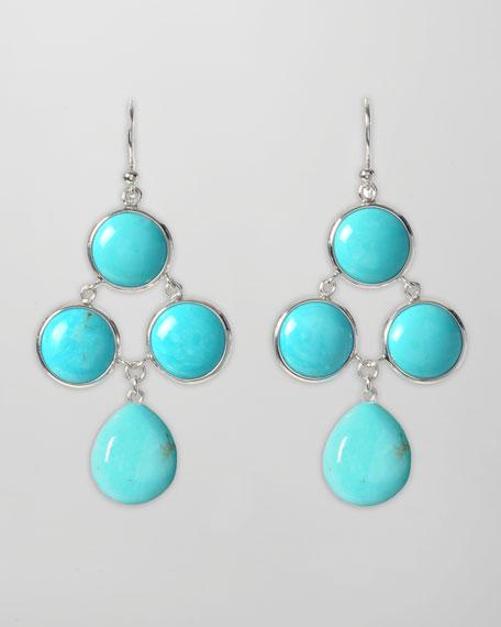 Turquoise Cascade Drop Earrings