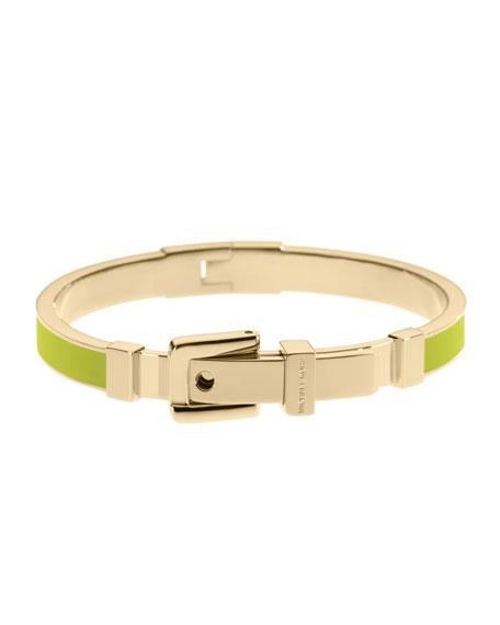 Buckle Enamel Bracelet, Lime