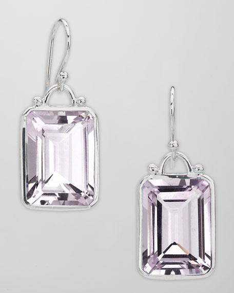 Rose Amethyst Drop Earrings