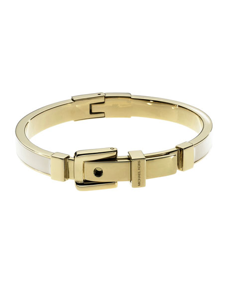 Exclusive Buckle Bangle, Ecru