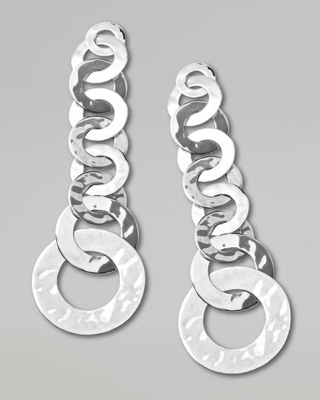 Roma Links Silver Drop Earrings