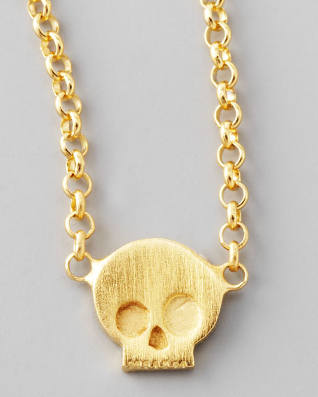 Fearless Gold Skull Pendant Necklace