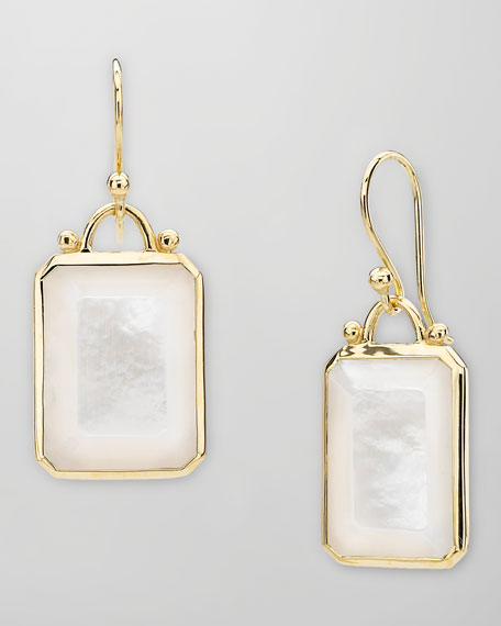 Square 18k Gold Mother-of-Pearl Earrings