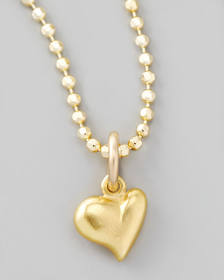 Gold Full Heart Charm