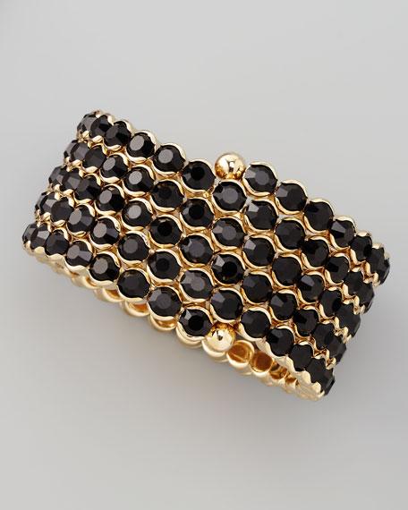 Crystal Spiral Bracelet, Black