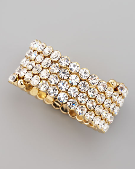 Crystal Spiral Bracelet, White