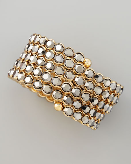 Crystal Spiral Bracelet, Gray