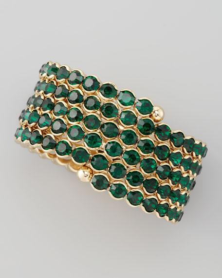 Crystal Spiral Bracelet, Green