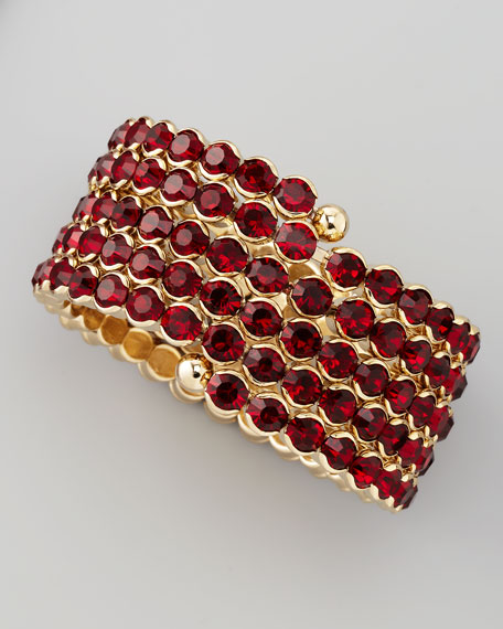 Crystal Spiral Bracelet, Red