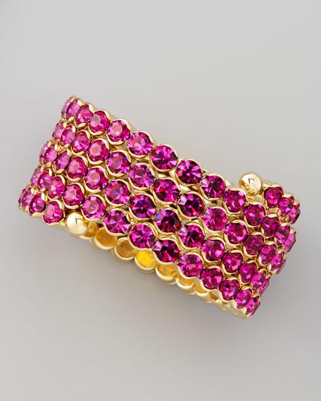 Crystal Spiral Bracelet, Pink