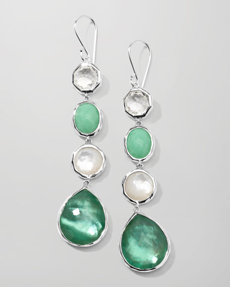 Wonderland 4-Station Drop Earrings, Mint