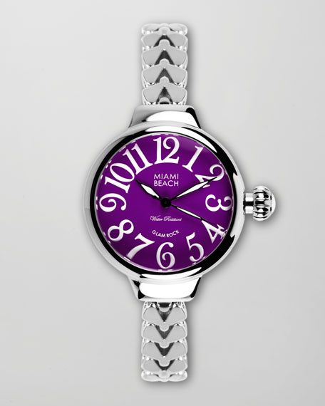Large Fishtail-Strap Round Watch