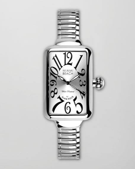Large Curved Rectangle Expand Watch