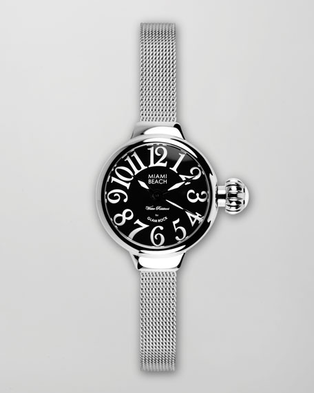 Small Mesh-Bracelet Round Watch