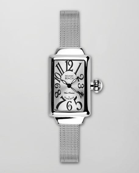 Small Mesh-Strap Rectangular Watch