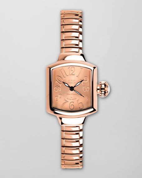 Small Square Expand Watch, Rose Gold