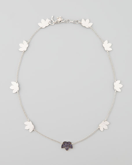 "Lotus Station Necklace, 19""L"