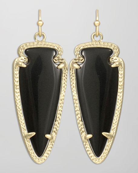 Small Sky Arrow Earrings, Black