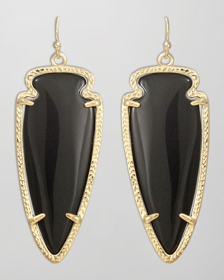 Skylar Arrow Earrings, Black