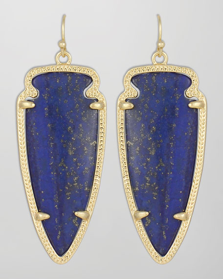 Skylar Arrow Earrings, Lapis