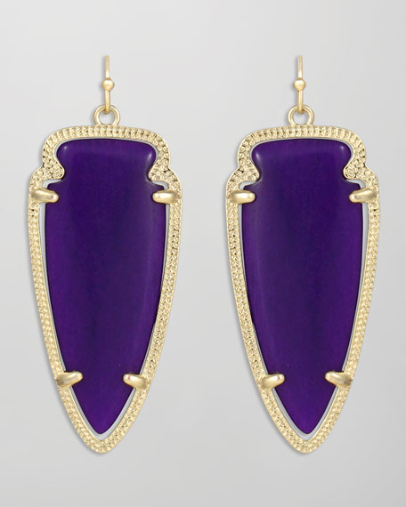 Skylar Arrow Earrings, Purple