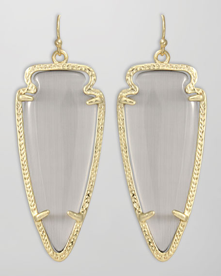 Skylar Arrow Earrings, Slate