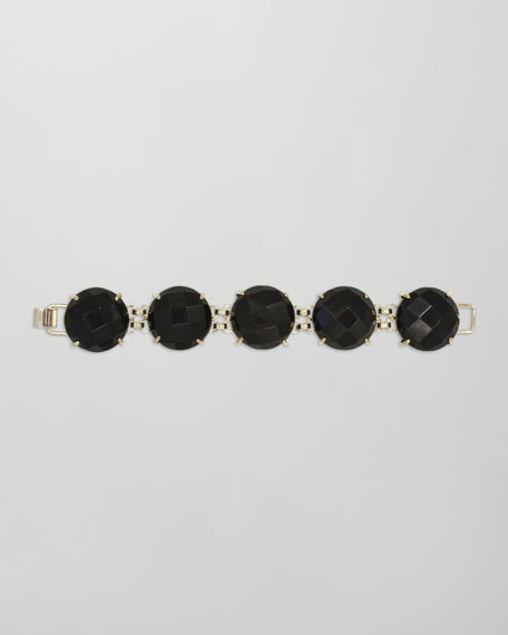 Cassie Five-Stone Bracelet, Black
