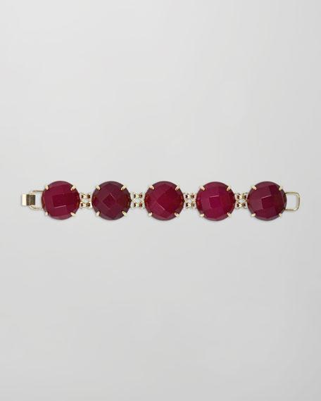 Cassie Five-Stone Bracelet, Pink