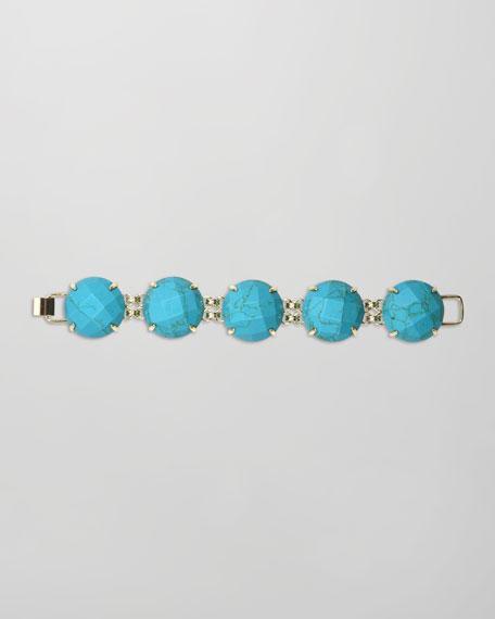 Cassie Five-Stone Bracelet, Turquoise