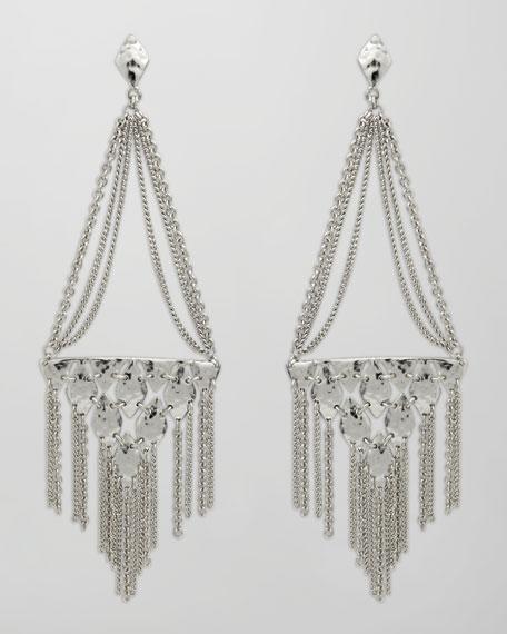 Mandy Fringe Earrings, Rhodium