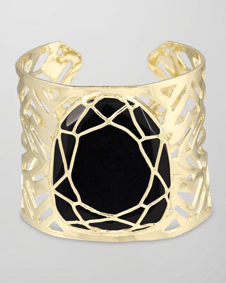Geneva Caged Cuff Bracelet, Black
