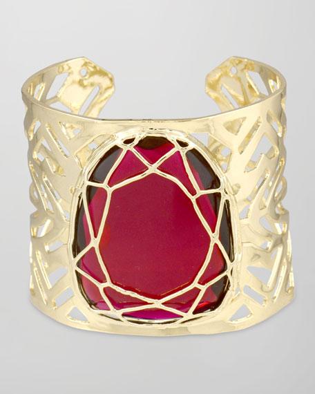 Geneva Caged Cuff Bracelet, Red