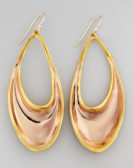 BEL AIR ROSE/GOLD EARRINGS