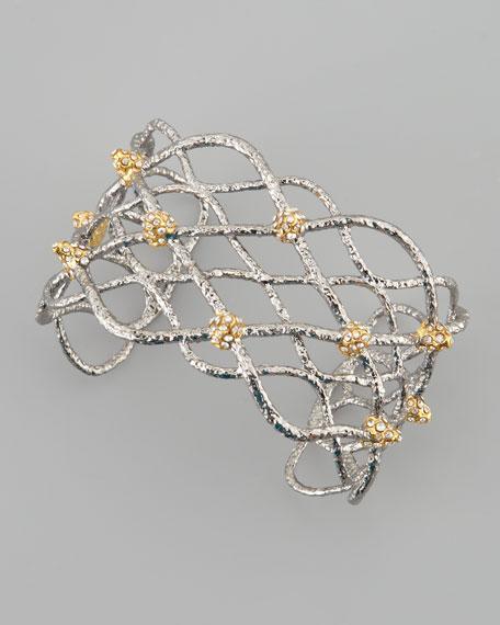 Siyabona Lattice Cuff Bracelet, Gunmetal