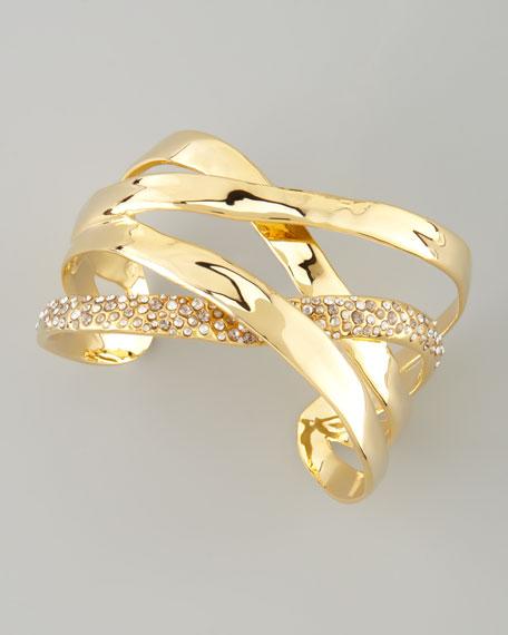 Bel Air Druzy Ribbon Cuff Bracelet