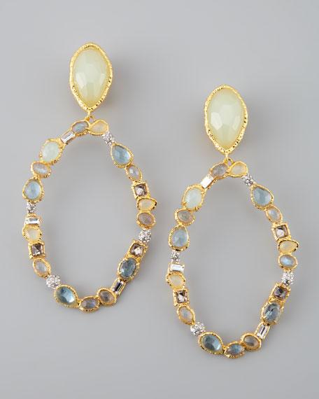 Siyabona Multi-Stone Clip Earrings